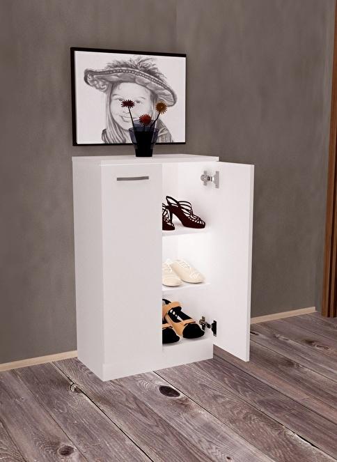 Sanal Mobilya Ayakkabılık Beyaz